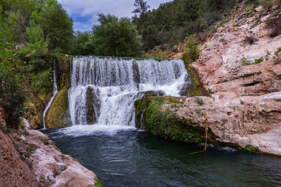 Fossil Creek Dam Toilet Bowl Dive Hike And Swim Near