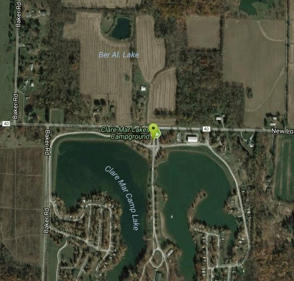 New London Ohio Map.Clare Mar Lakes Campground Camp Canoe And Swim Near New London