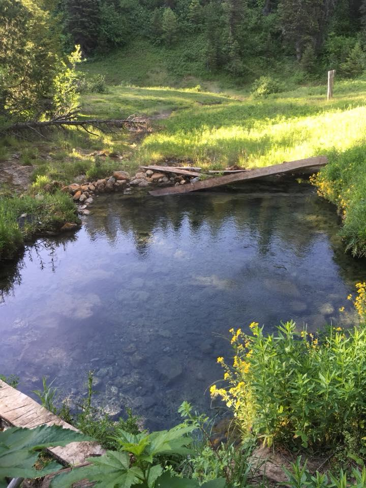 The actual hot springs pool. About 10x20 and a perfect temperature. courtesy of Victor Walker↗