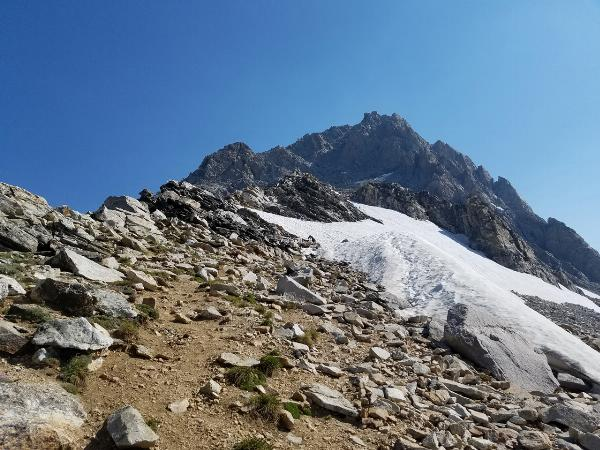 From Saddle to Summit through Southwest Couloir