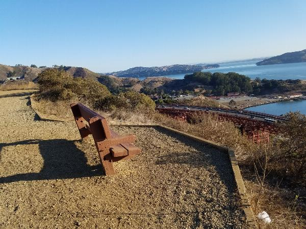 Bench with beautiful view of the bay