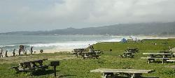 Picnic tables at park near Half Moon Bay, California courtesy of Tomwsulcer↗