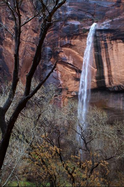 Waterfall At Emerald Pools In Zion National Park1