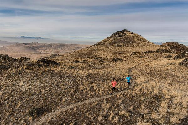 Antelope Island encompasses vast running trails courtesy of Brandon Flint↗
