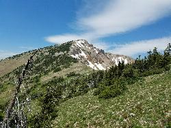 Mount Jefferson from slope of next peak north courtesy of endovereric↗